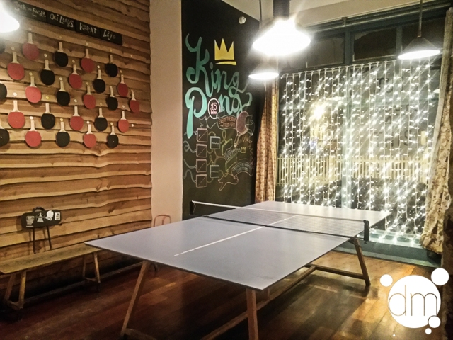 The Book Club ping pong table